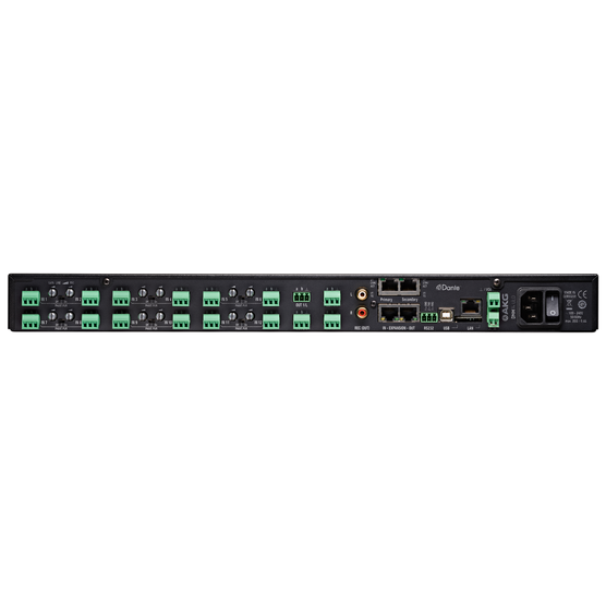 DMM14 ULD - Black - Reference digital automatic microphone mixer w/DANTE - Back
