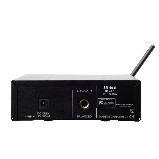SR40 MINI - Black - Single wireless stationary receiver - Back