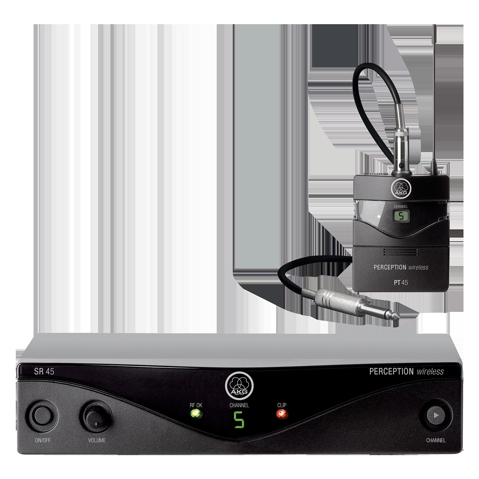 Perception Wireless 45 Instrumental Set Band-U1 - Black - High-performance wireless microphone system - Hero